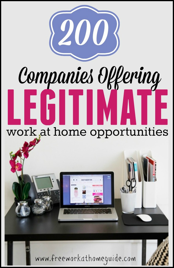 200 companies offering legitimate work at home jobs
