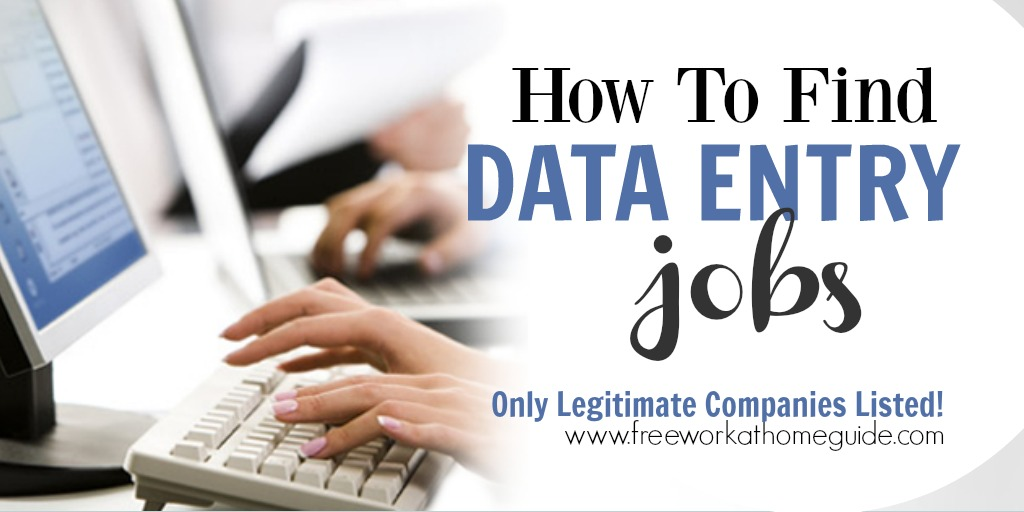Data Entry Work At Home Jobs