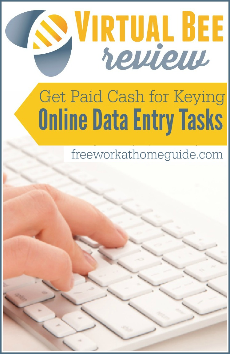 Virtual Bee Review: Get Paid To Key Online Data Entry Jobs