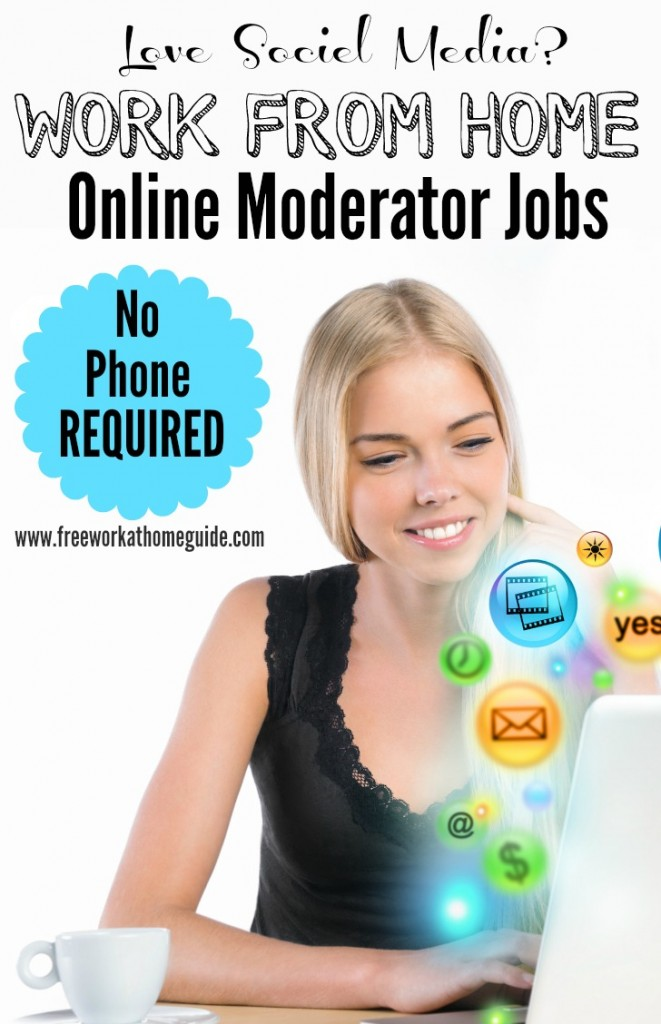 Work from Home Online Moderator Jobs