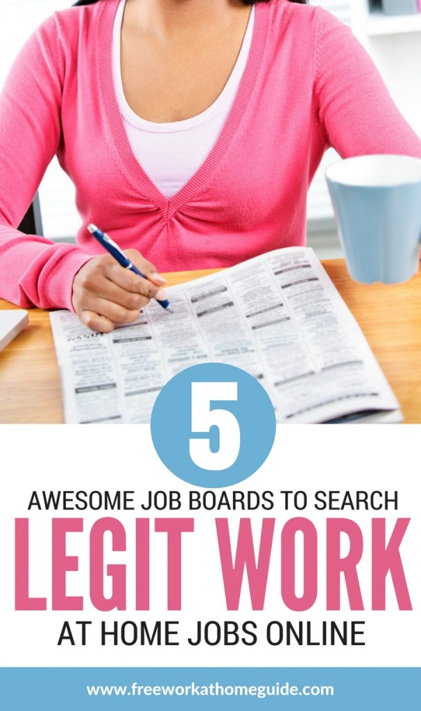 I've compiled a list of 5 job board sites that can help you find a work at home job. These sites have been carefully scrutinized, no scams involved!