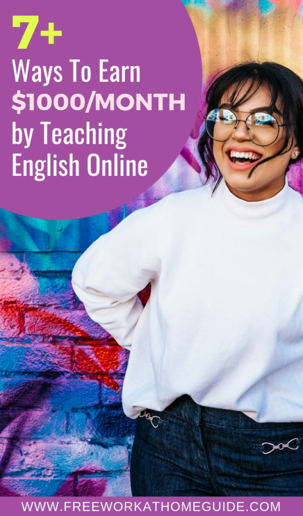 If the idea of making over $1000 every month sounds appealing to you, then you can earn money by teaching English online. See these 7 legit online teaching jobs.