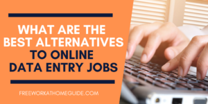 Best Alternative to Online Data Entry Jobs