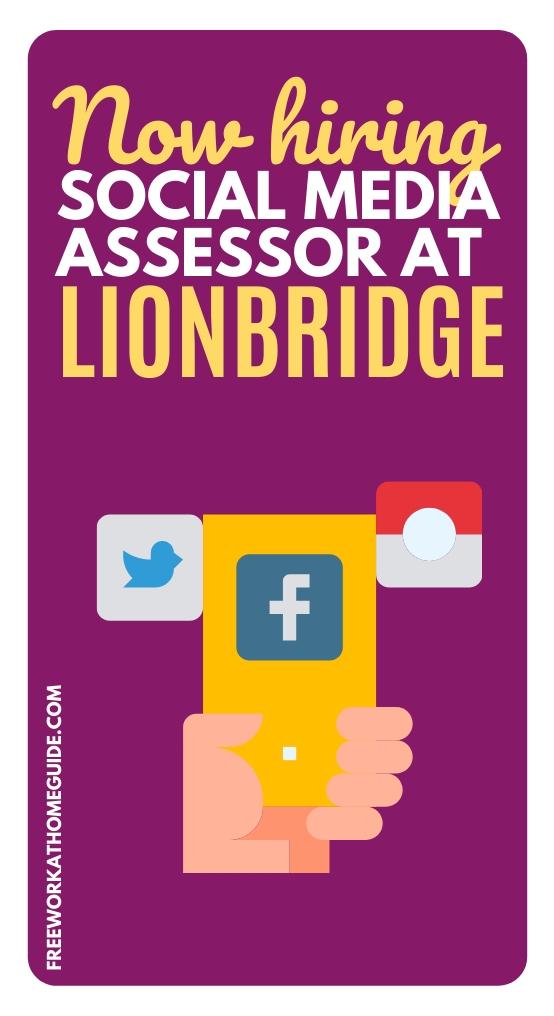 Work from Home Social Media Assessor at Lionbridge